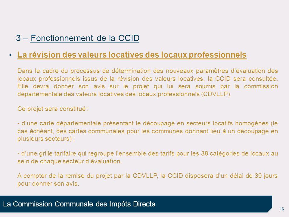 3 – Fonctionnement de la CCID