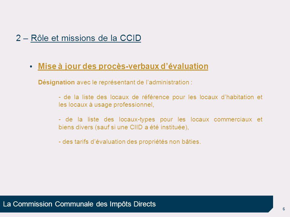 2 – Rôle et missions de la CCID