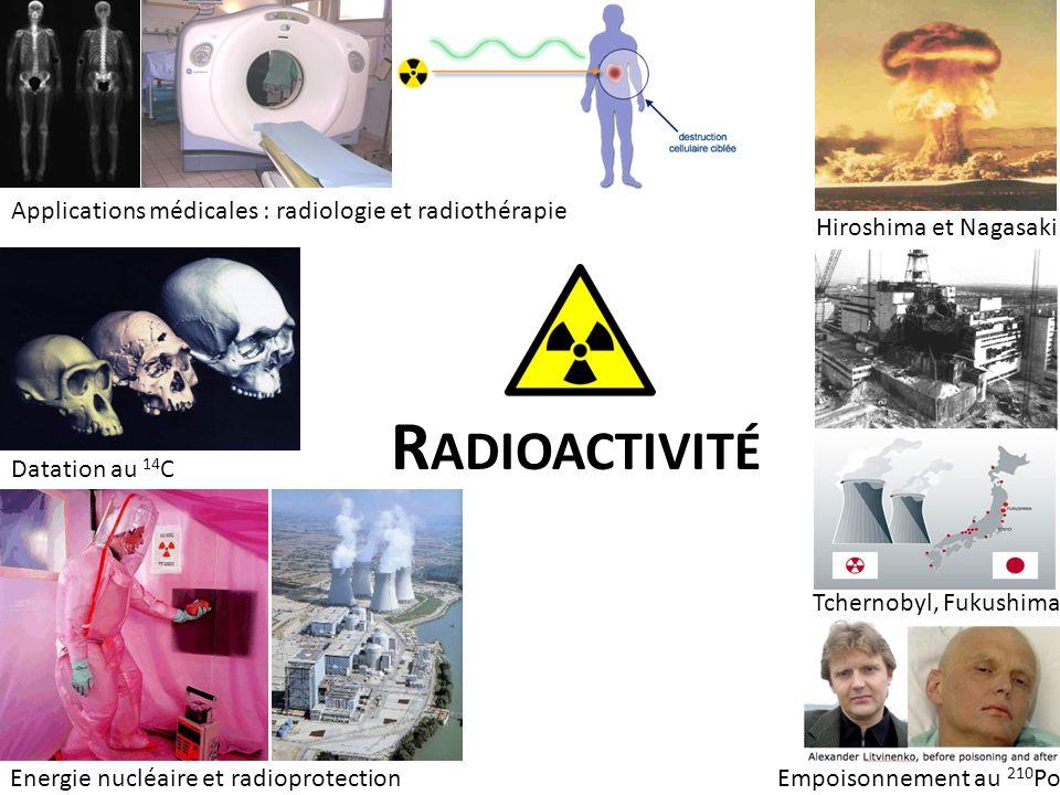 Radioactivité Applications médicales : radiologie et radiothérapie