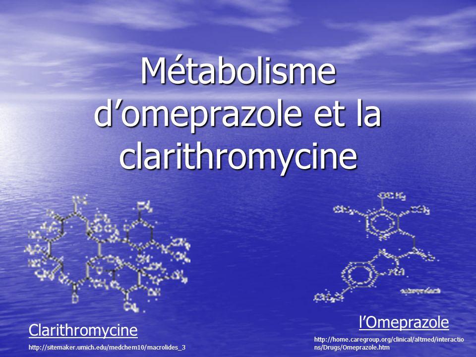 Métabolisme d'omeprazole et la clarithromycine