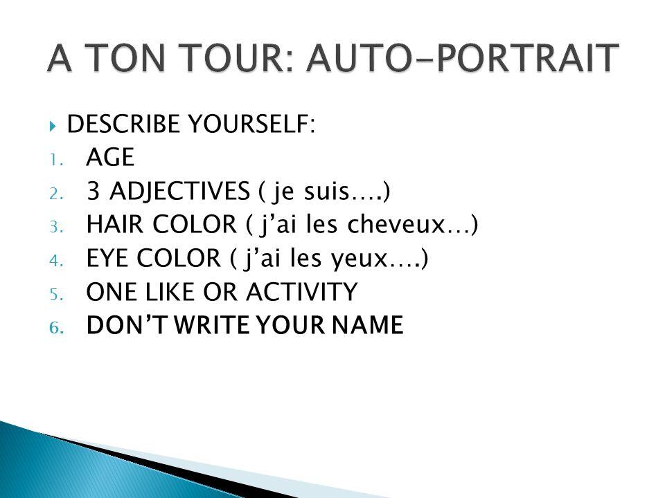 A TON TOUR: AUTO-PORTRAIT