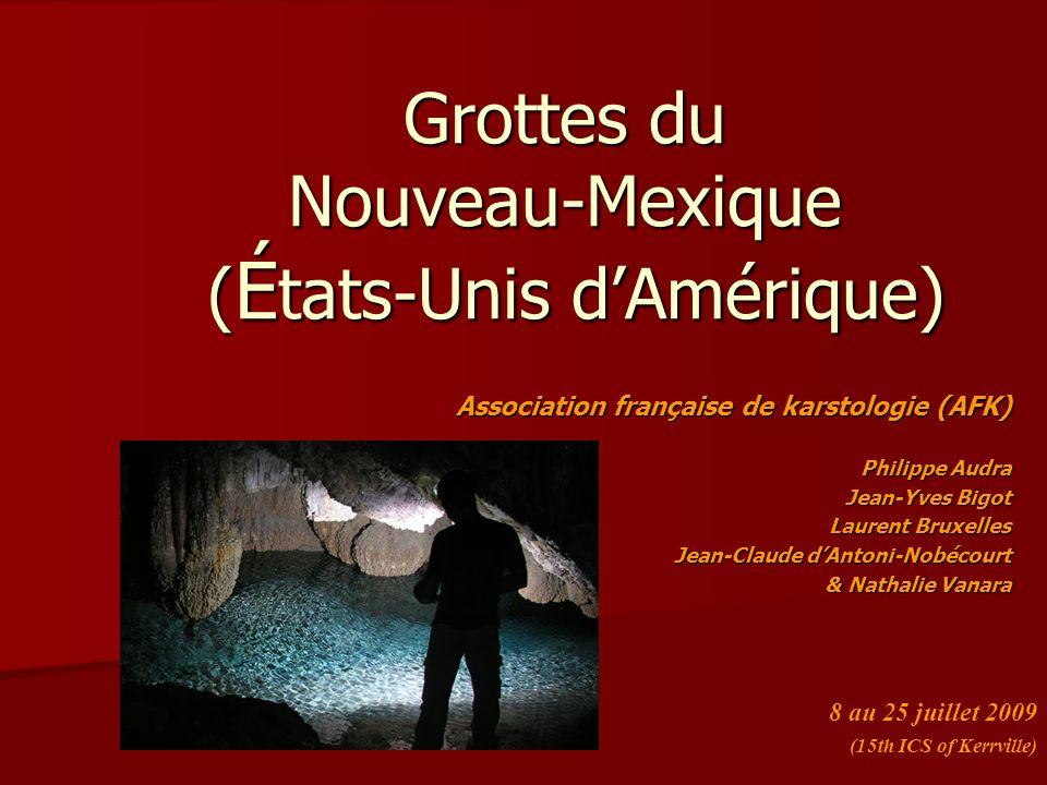 Grottes du Nouveau-Mexique (États-Unis d'Amérique)