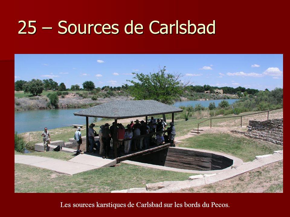 Les sources karstiques de Carlsbad sur les bords du Pecos.