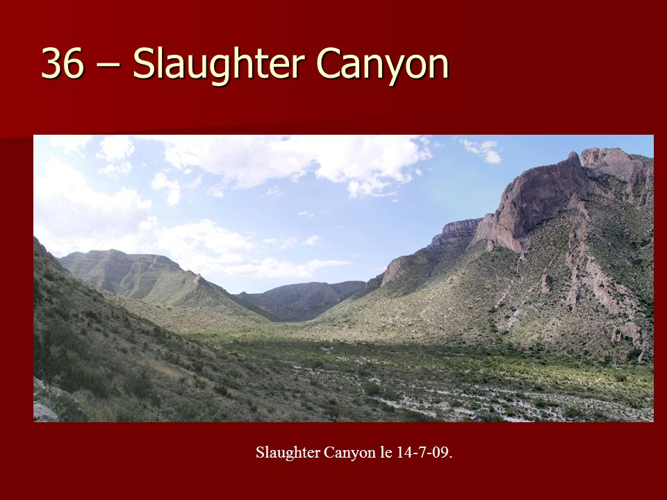 36 – Slaughter Canyon Slaughter Canyon le 14-7-09.
