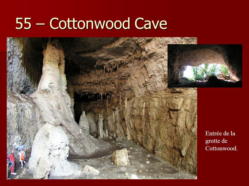 55 – Cottonwood Cave Entrée de la grotte de Cottonwood.