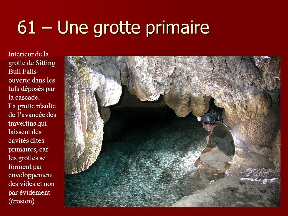 61 – Une grotte primaire Intérieur de la grotte de Sitting Bull Falls ouverte dans les tufs déposés par la cascade.