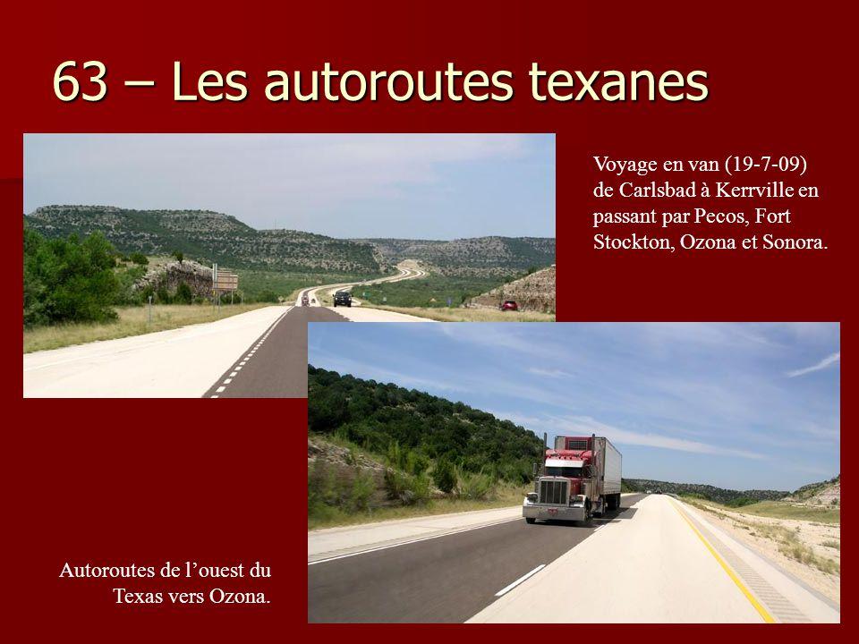 63 – Les autoroutes texanes
