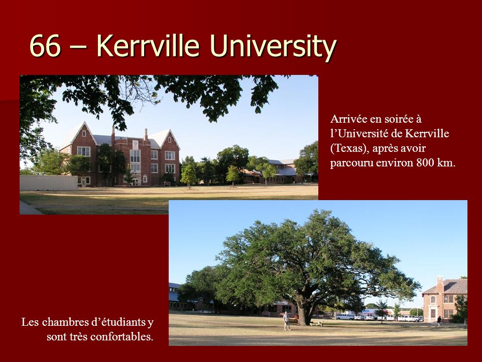 66 – Kerrville University