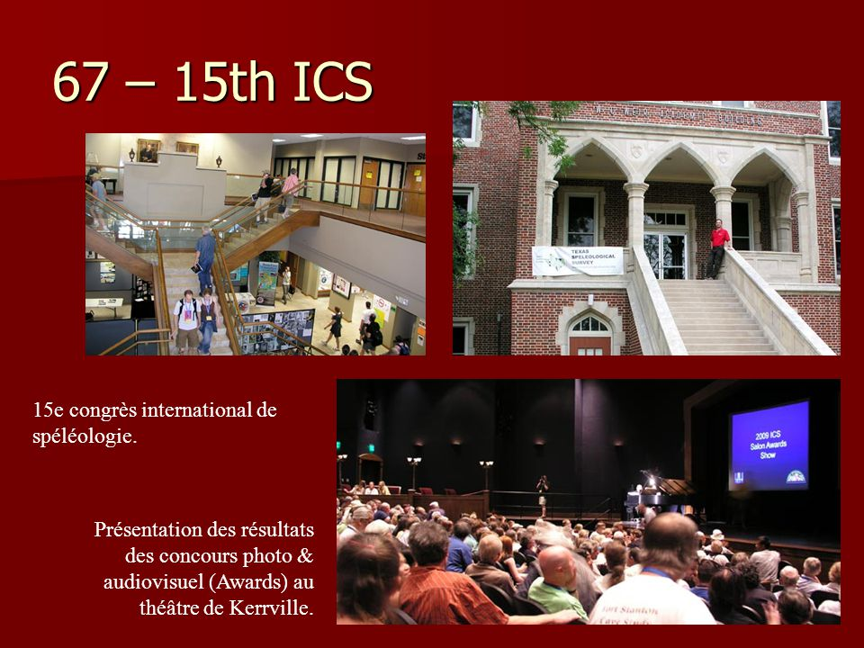 67 – 15th ICS 15e congrès international de spéléologie.