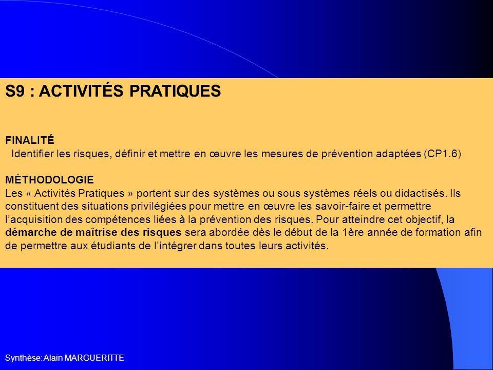 S9 : ACTIVITÉS PRATIQUES