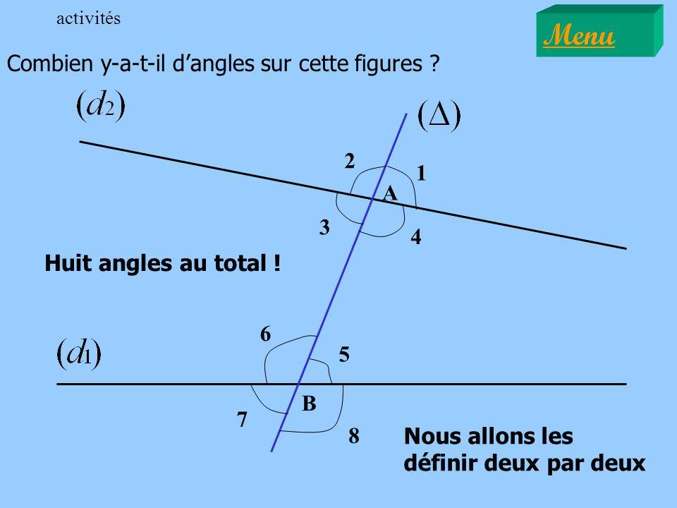 Menu Combien y-a-t-il d'angles sur cette figures 2 1 A 3 4