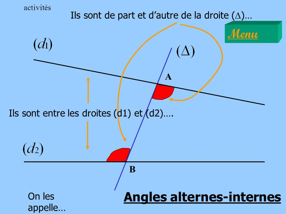 Angles alternes-internes