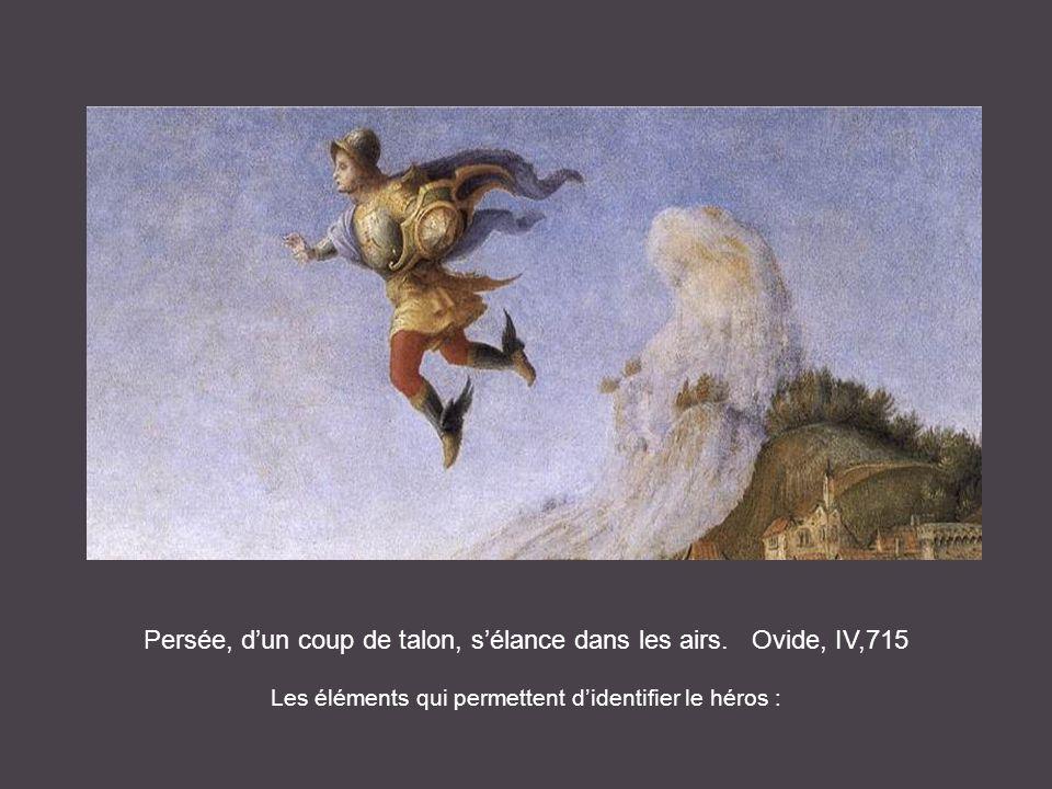 Persée, d'un coup de talon, s'élance dans les airs. Ovide, IV,715