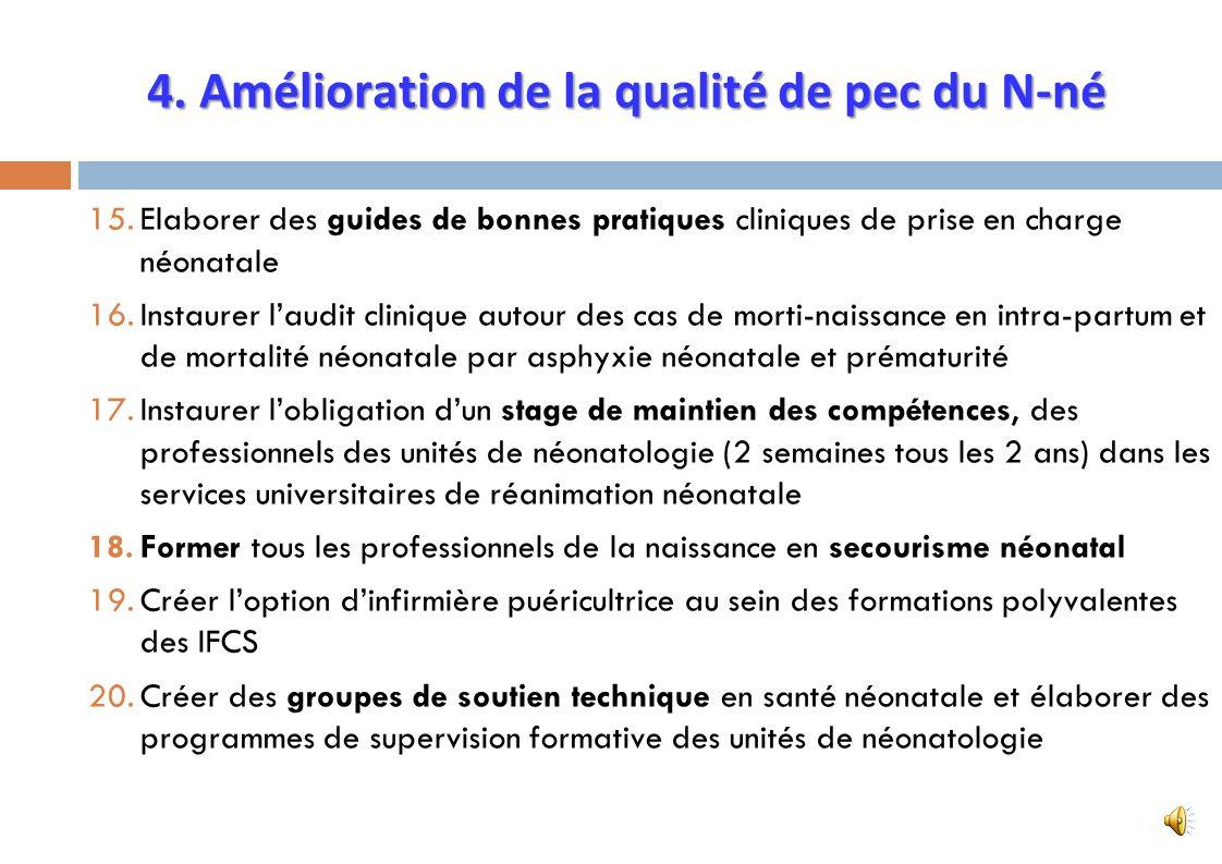 4. Amélioration de la qualité de pec du N-né