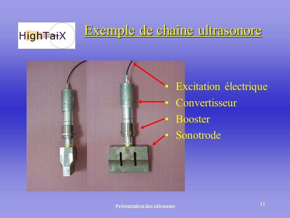 Exemple de chaîne ultrasonore
