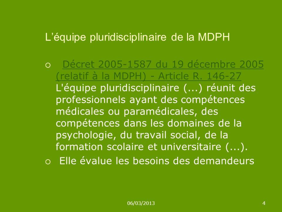 L'équipe pluridisciplinaire de la MDPH