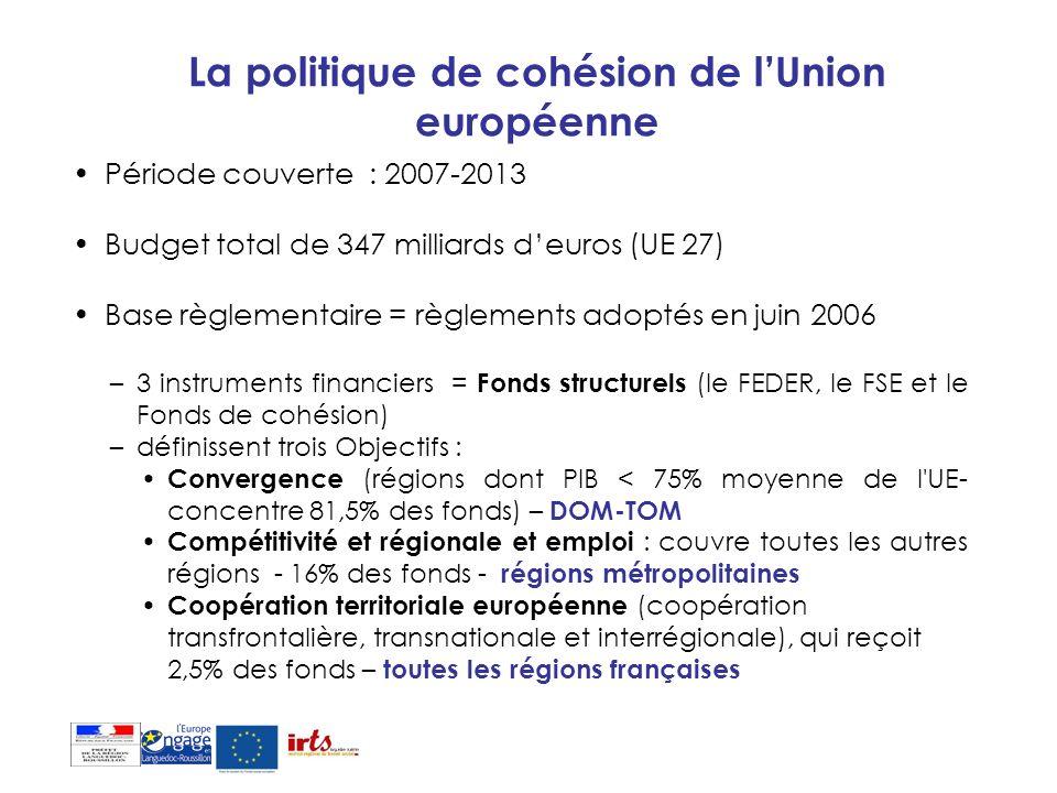 La politique de cohésion de l'Union européenne