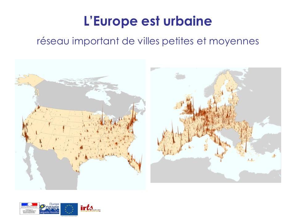 L'Europe est urbaine réseau important de villes petites et moyennes