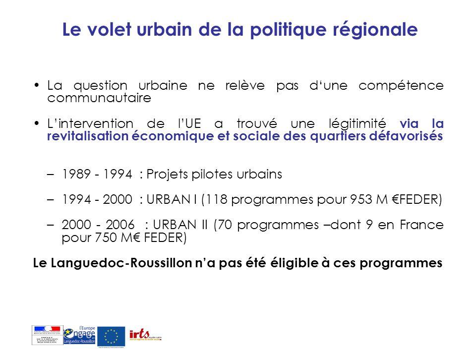 Le volet urbain de la politique régionale