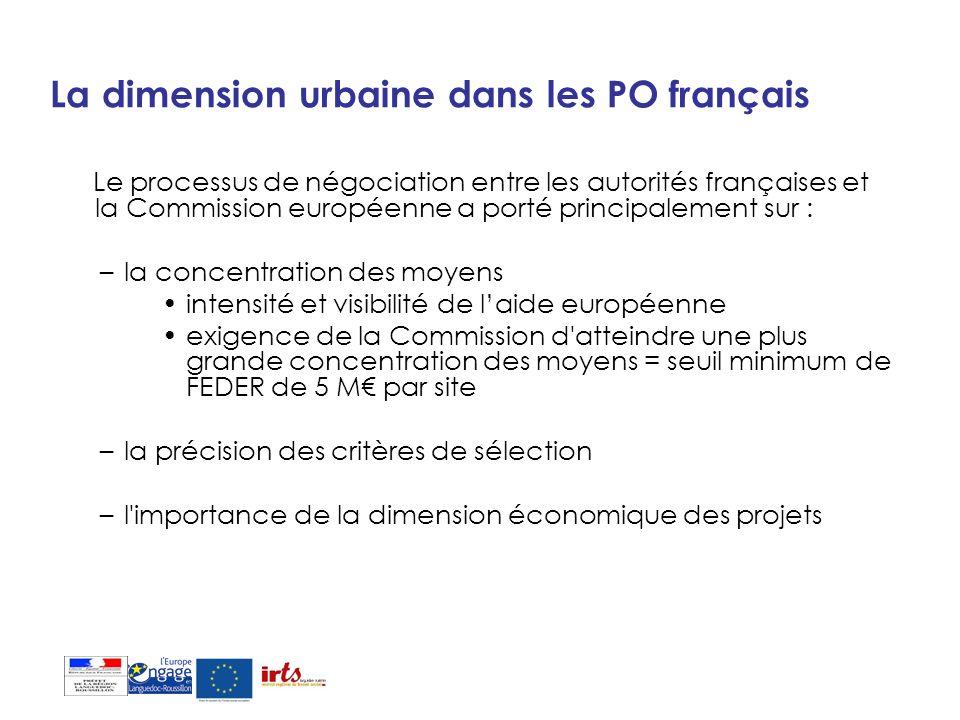 La dimension urbaine dans les PO français