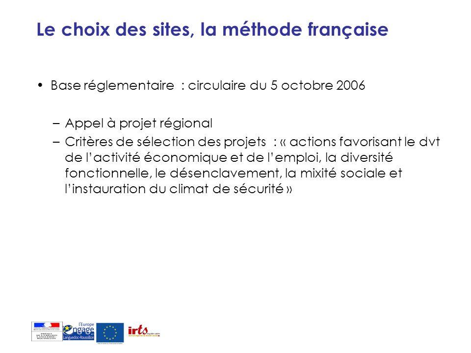 Le choix des sites, la méthode française