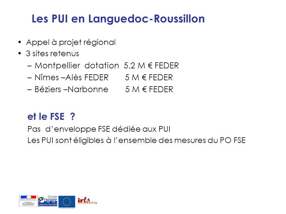 Les PUI en Languedoc-Roussillon