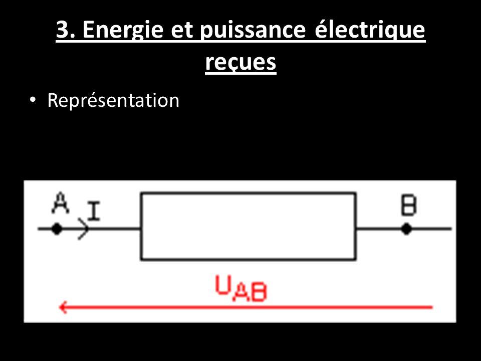 3. Energie et puissance électrique reçues