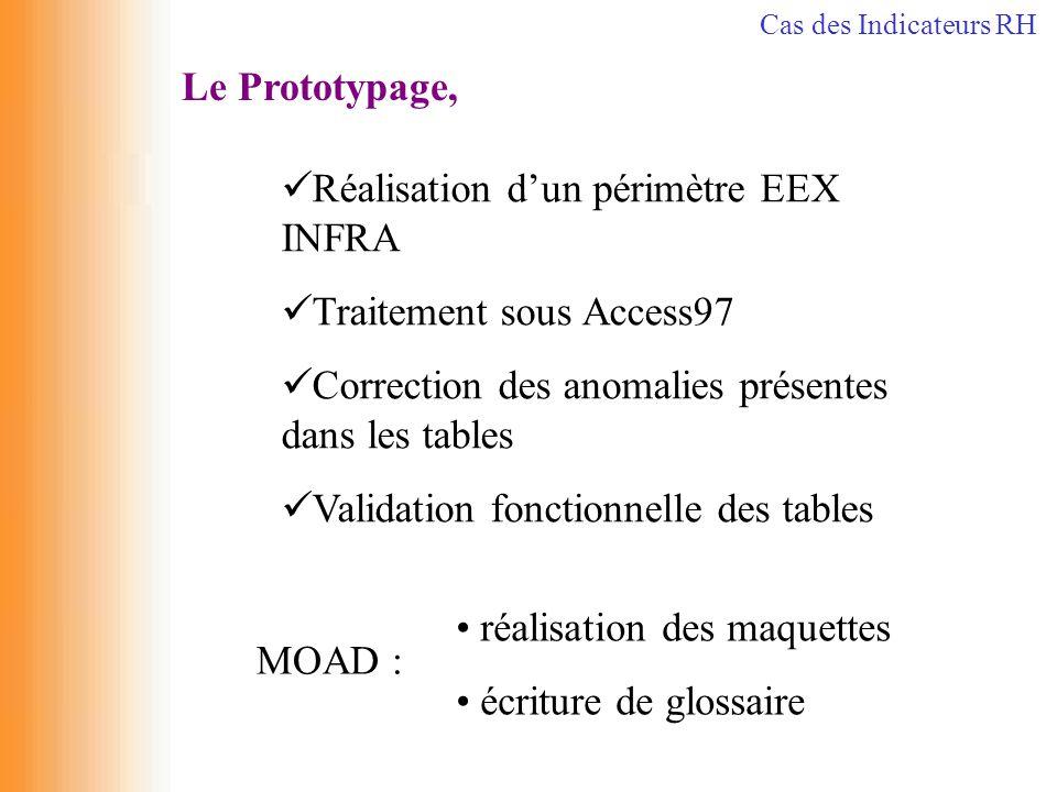 Réalisation d'un périmètre EEX INFRA Traitement sous Access97