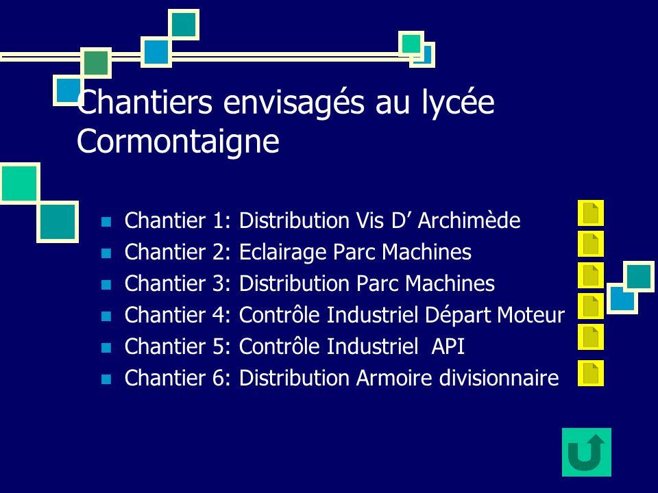Chantiers envisagés au lycée Cormontaigne