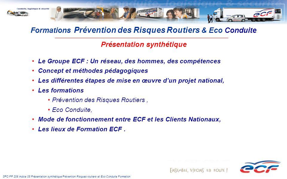 Formations Prévention des Risques Routiers & Eco Conduite Présentation synthétique