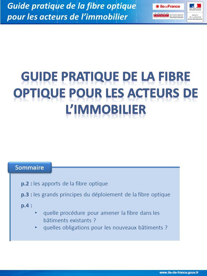 Guide pratique de la fibre optique pour les acteurs de l'immobilier