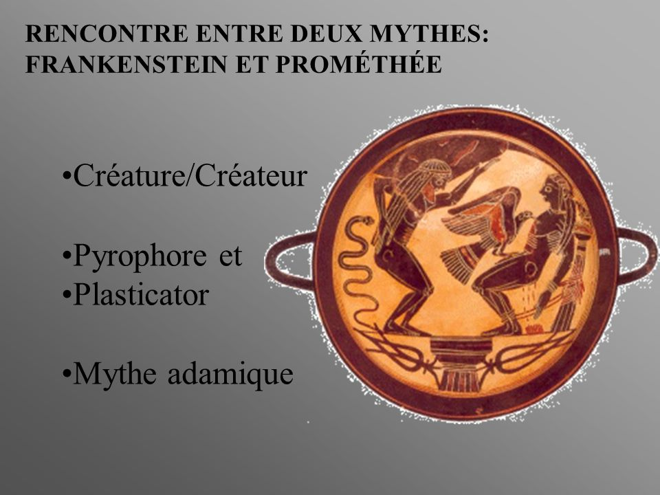 Créature/Créateur Pyrophore et Plasticator Mythe adamique