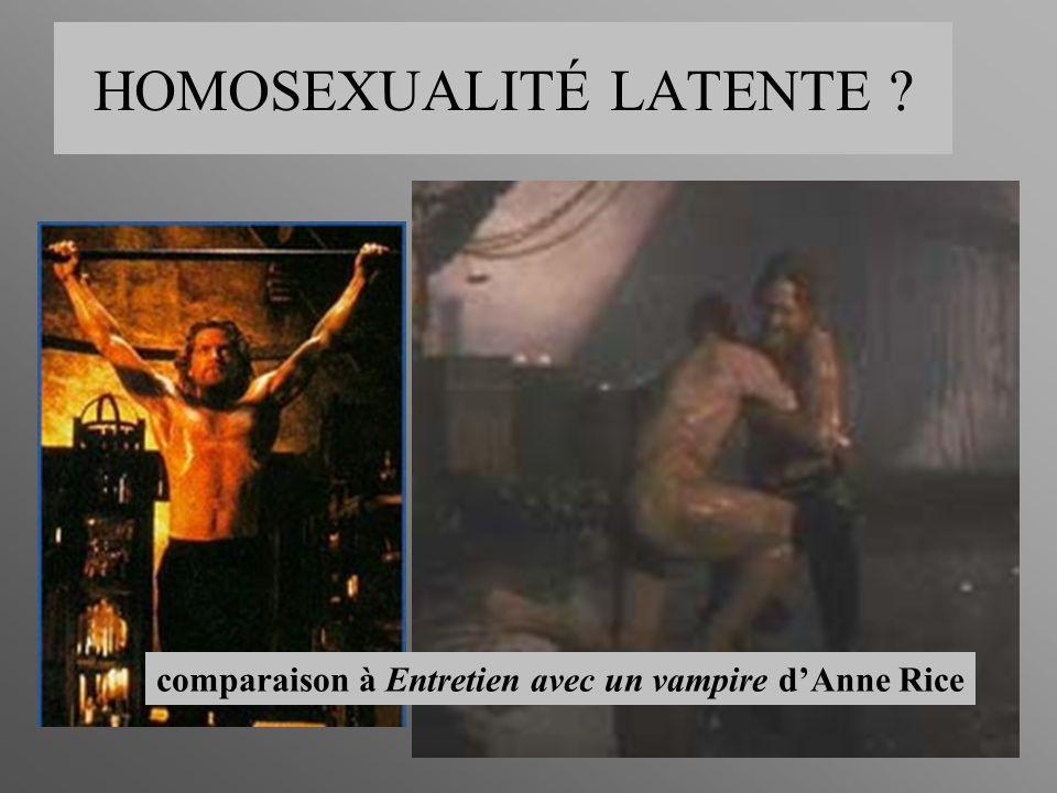 HOMOSEXUALITÉ LATENTE