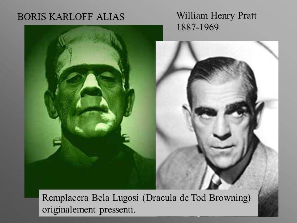 BORIS KARLOFF ALIAS William Henry Pratt. 1887-1969. Remplacera Bela Lugosi (Dracula de Tod Browning)