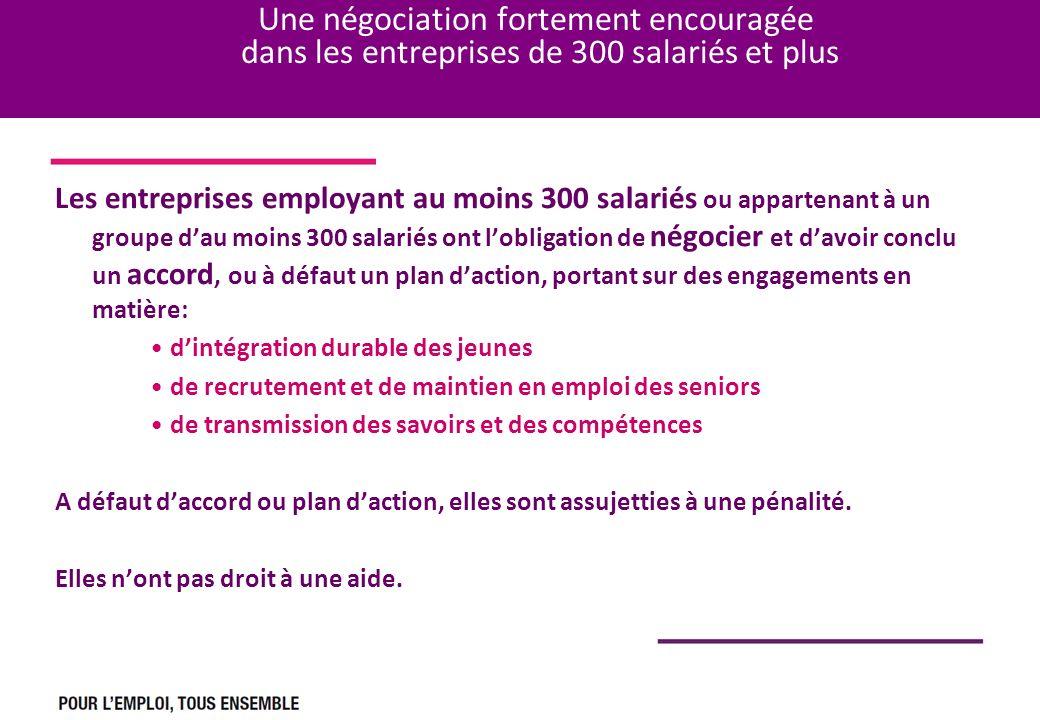 Une négociation fortement encouragée dans les entreprises de 300 salariés et plus