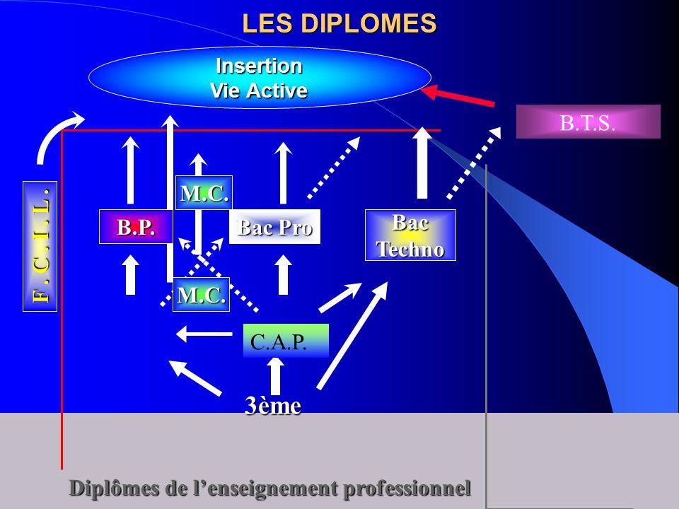 LES DIPLOMES 3ème B.T.S. F . C . I . L .