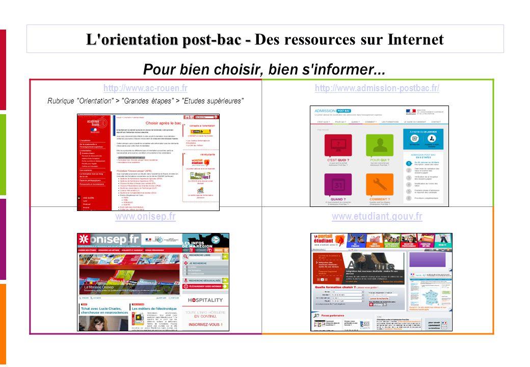 L orientation post-bac - Des ressources sur Internet