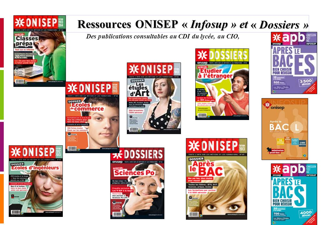Ressources ONISEP « Infosup » et