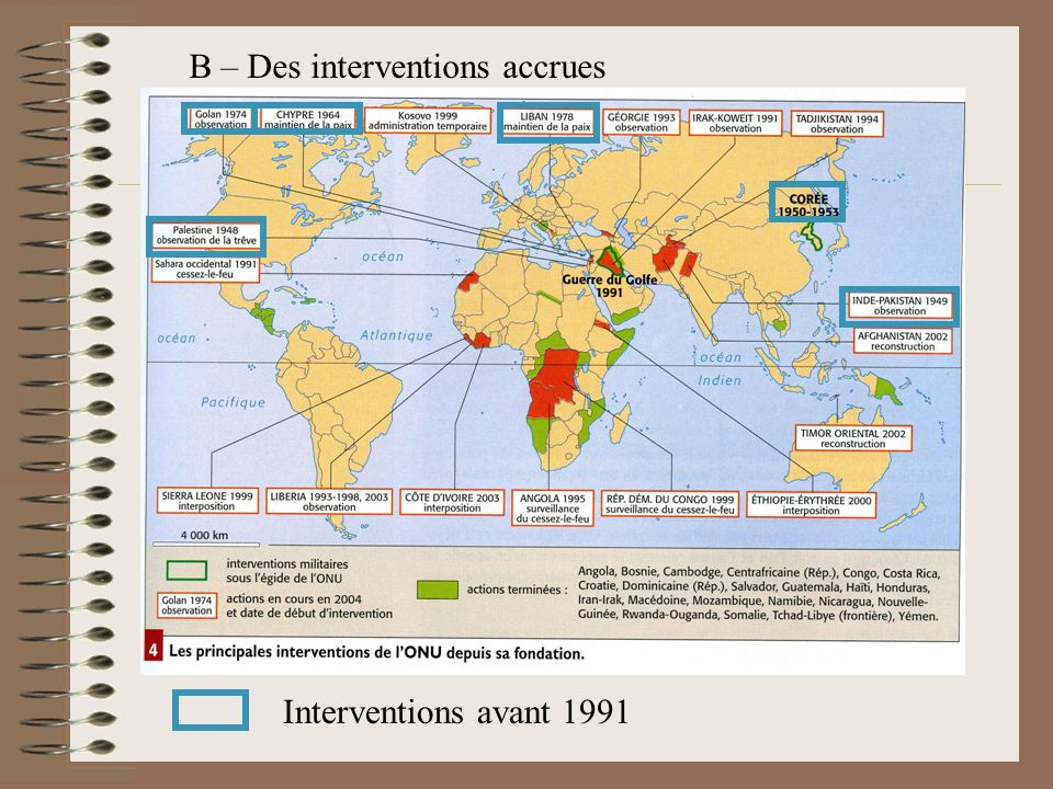 B – Des interventions accrues
