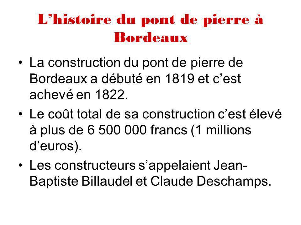 L'histoire du pont de pierre à Bordeaux