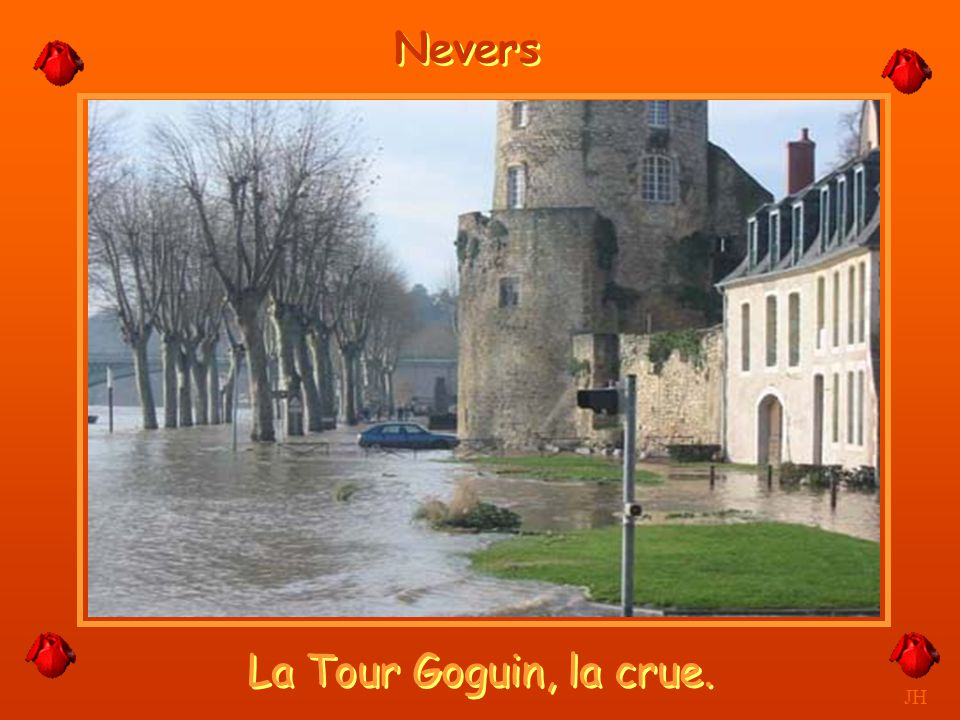 Nevers La Tour Goguin, la crue. JH