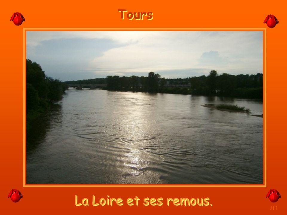 Tours La Loire et ses remous. JH