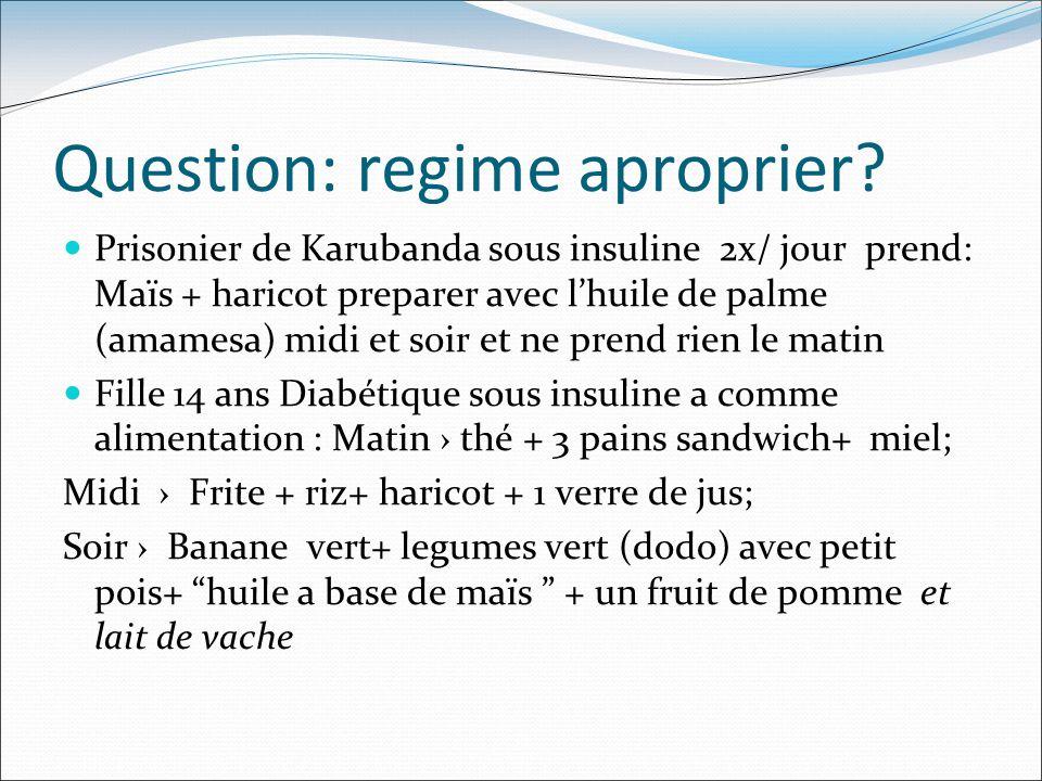 Question: regime aproprier