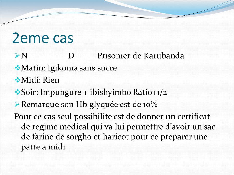 2eme cas Nzabandora Denys , Prisonier de Karubanda
