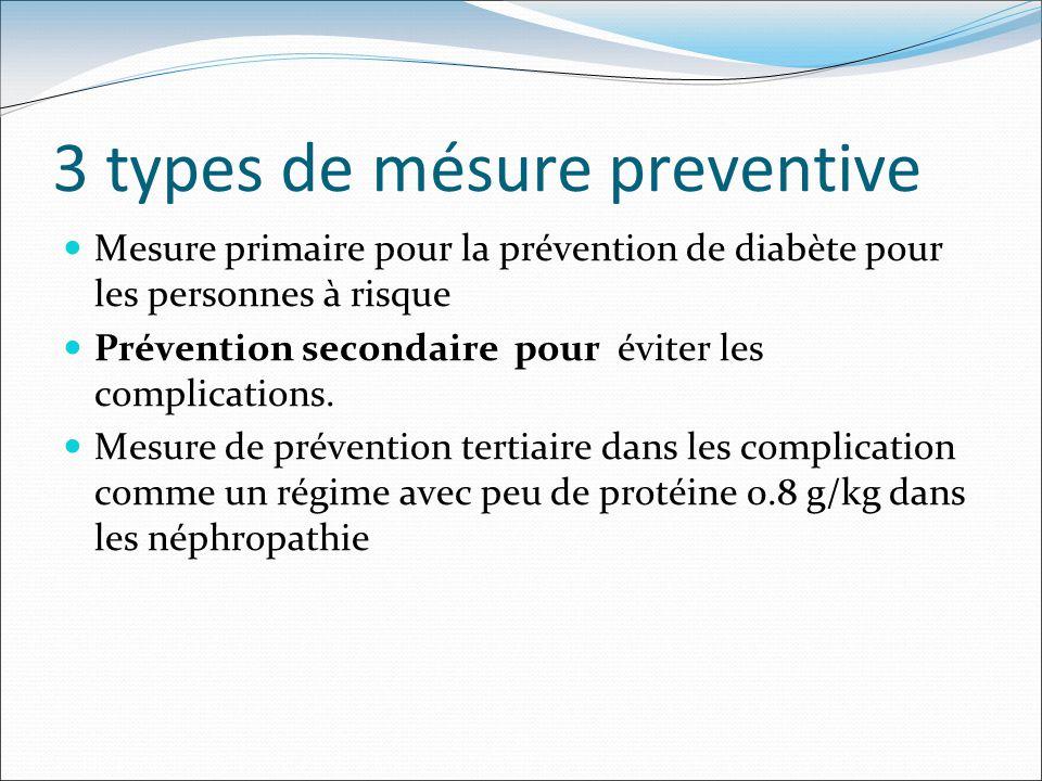 3 types de mésure preventive