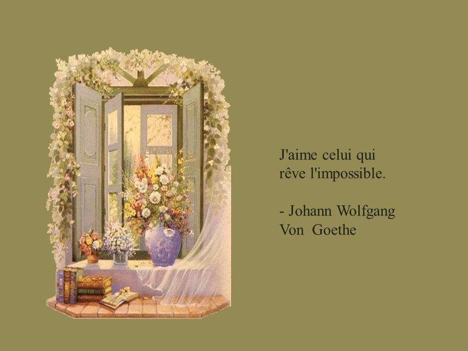 J aime celui qui rêve l impossible.
