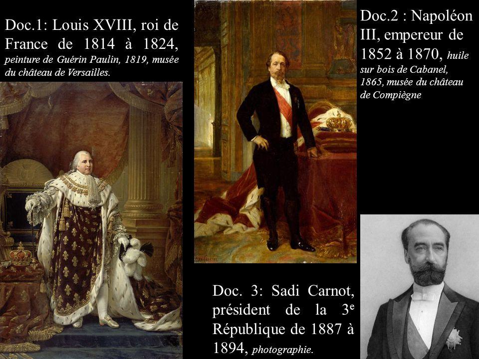 Doc.2 : Napoléon III, empereur de 1852 à 1870, huile sur bois de Cabanel, 1865, musée du château de Compiègne