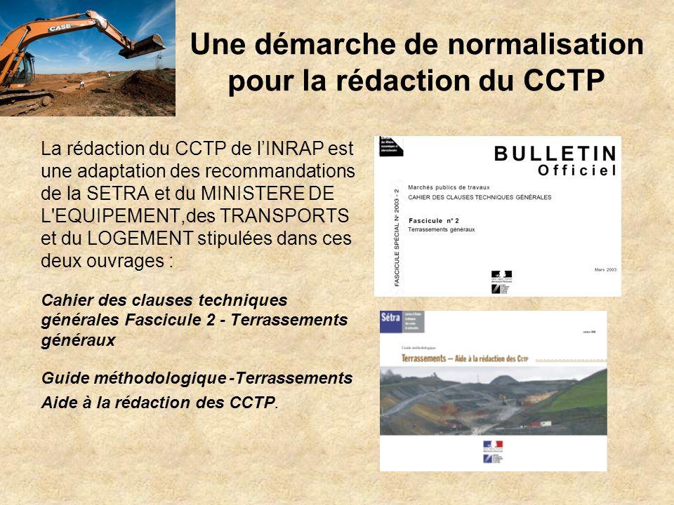 Une démarche de normalisation pour la rédaction du CCTP