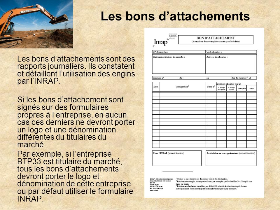 Les bons d'attachements
