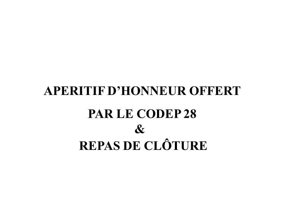 APERITIF D'HONNEUR OFFERT
